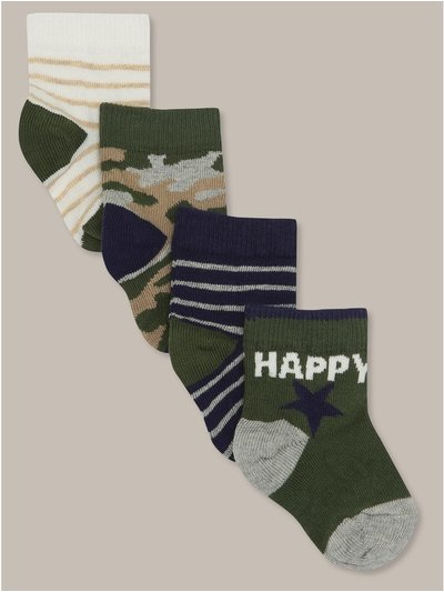 Striped camouflage socks four pack