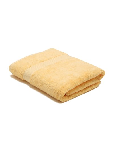 Yellow combed cotton bath towel