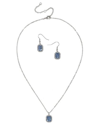 Sapphire earrings and necklace
