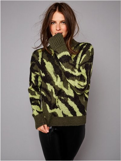 Petite camouflage jumper