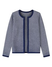 Dash navy tack stitch cardigan