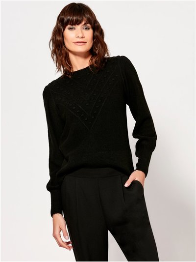 Puff sleeve bobble jumper