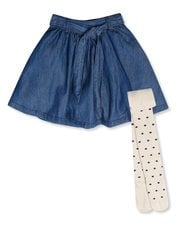 Denim skirt with tights (3-12yrs)