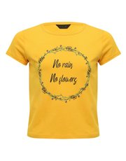 Teen yellow slogan t-shirt