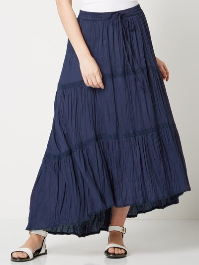 Roman Originals dipped hem maxi skirt
