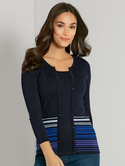 Two in one striped cardigan top