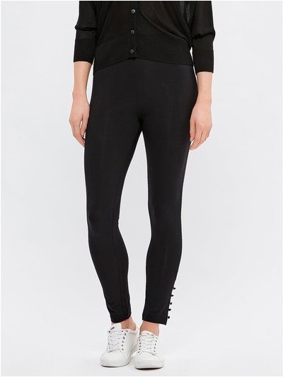 Button trim leggings