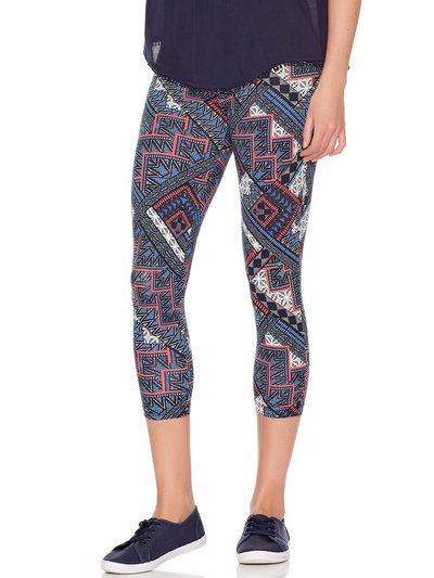 Tile print cropped leggings