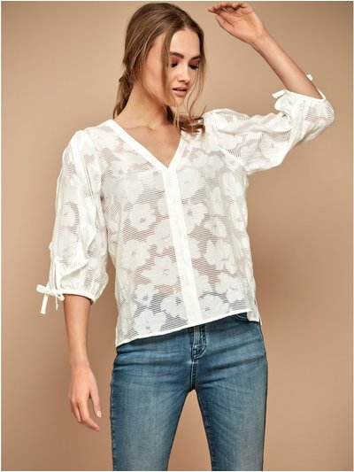 Sonder Studio burnout ruffle top
