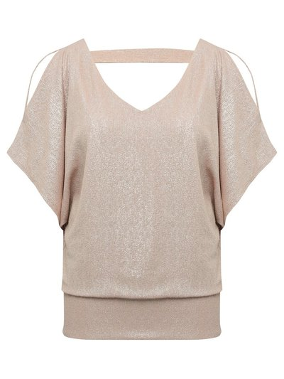 Cold shoulder glitter top