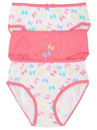Butterfly briefs three pack (2-10yrs)
