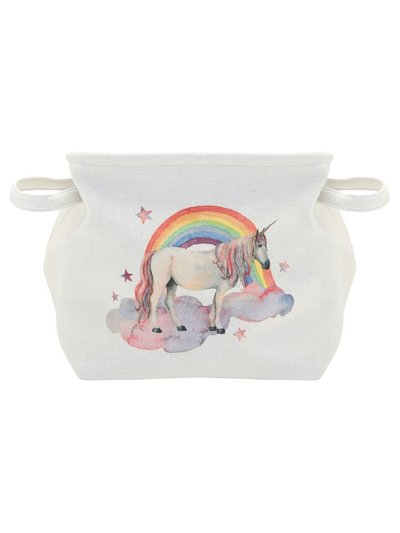 Unicorn canvas storage basket