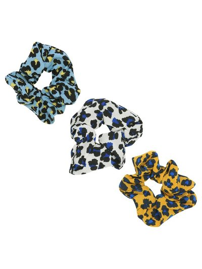 Muse animal print hair scrunchies three pack