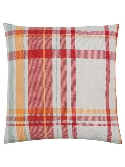 Autumn check cushion