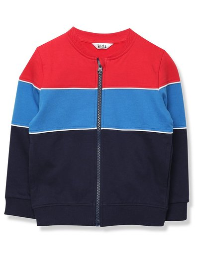 Stripe zip sweatshirt (9mths-5yrs)