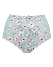 Floral butterfly high waist medium control briefs