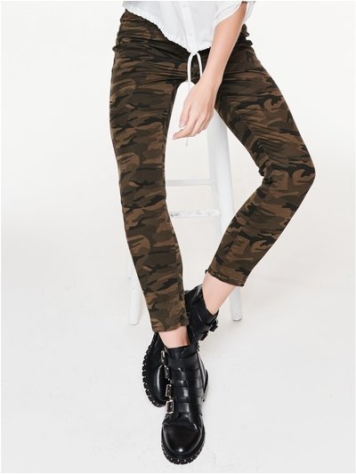 Petite camouflage skinny jeans