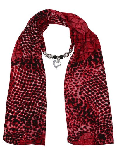 Muse snake print fabric necklace