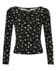 Teen ruched floral top