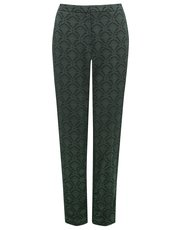 Baroque jacquard trousers