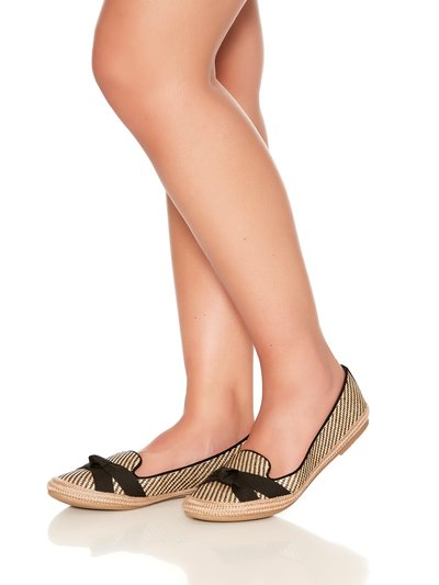 Favour strap and knot espadrille