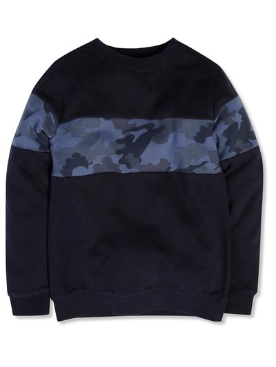 Camo colourblock sweatshirt (3-12yrs)