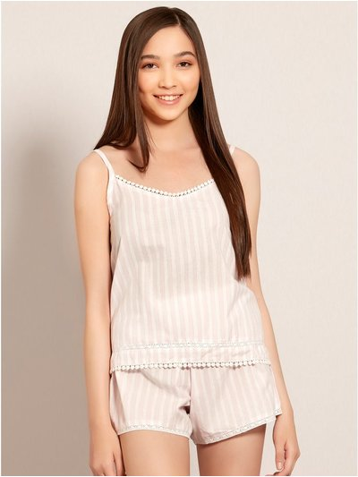 Teens' shimmer stripe pyjamas