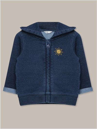 Denim look hoodie (Newborn-12mnths)