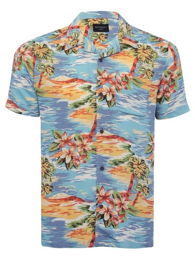 Dstruct beach print shirt