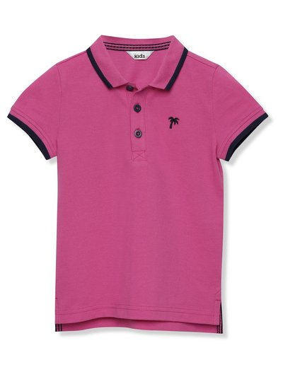Palm embroidered polo shirt