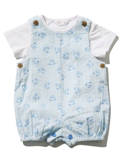 Bear print top and bibshort set (Newborn-18mths)