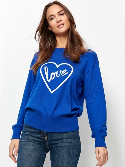 Love slogan jumper