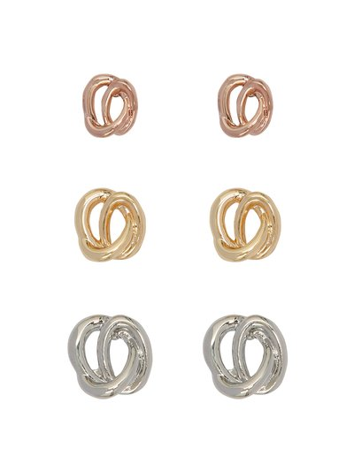 Knot earrings three pack