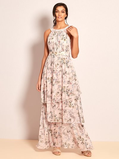 VILA floral tiered maxi dress