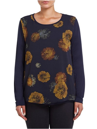 VIZ-A-VIZ floral long sleeve top