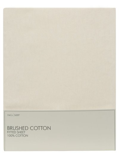 Brushed cotton fitted sheet