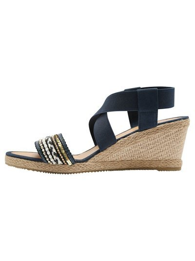Sable jewelled espadrille wedge