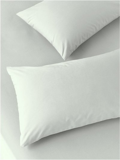 Cotton rich mint pillowcases two pack