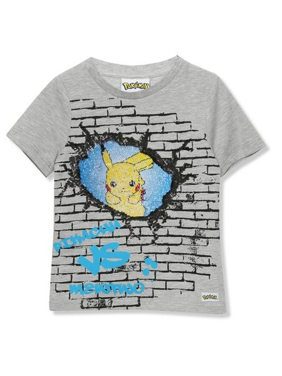 Pokemon two way sequin t-shirt (3-12yrs)