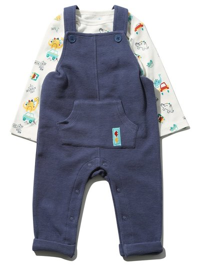 Dinosaur top and dungarees set (Newborn-18mths)