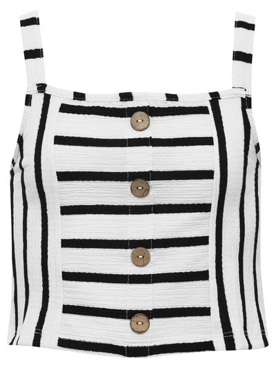 Teen striped button front vest top