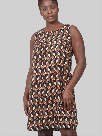Izabel Curve geo print shift dress
