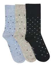 Gentle Grip spot socks three pack