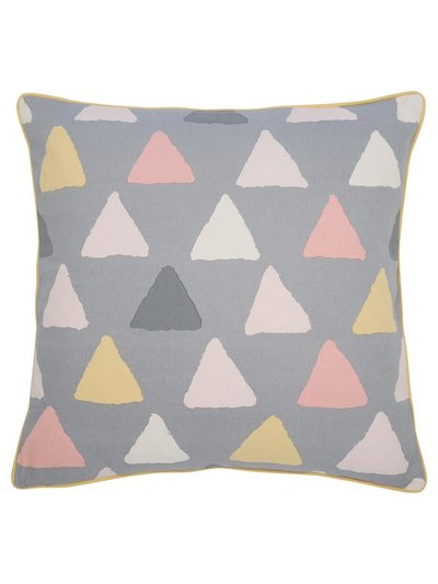 Triangle print cushion