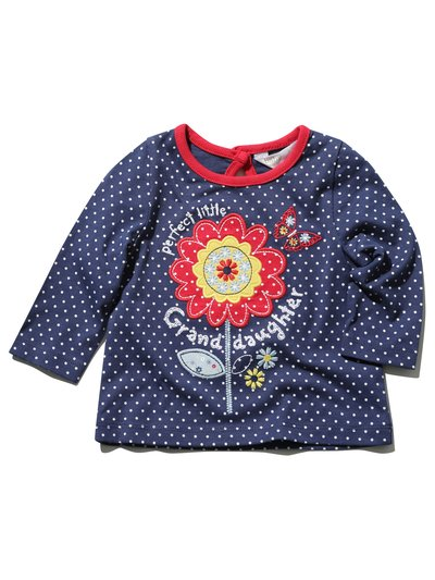 Flower applique granddaughter top