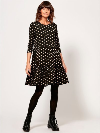 Polka dot smock dress