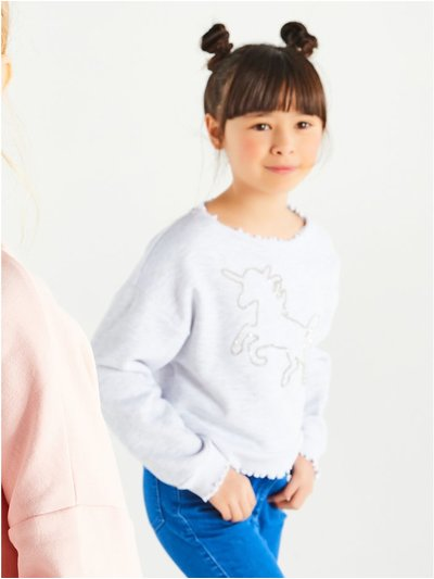 Diamante unicorn sweatshirt (3-12yrs)