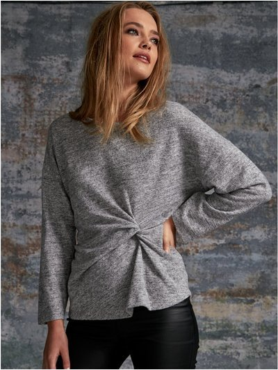 Sonder Studio brushed knot front top