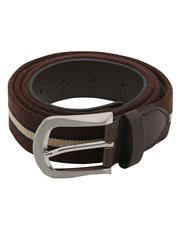 Brown stretch belt