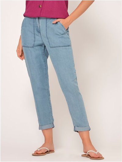 Petite utility trousers